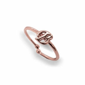 Ring silver 925 Pink plated - Simply Me