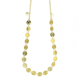 Necklace metal yellow gold plated - Funky Metal