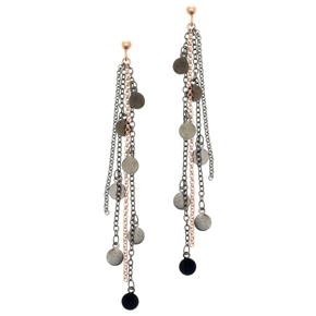 Earrings bronge rose gold and black rhodium plated - Simply Me