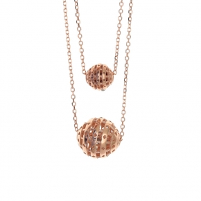 Necklace silver 925 rose gold plated - Funky Metal