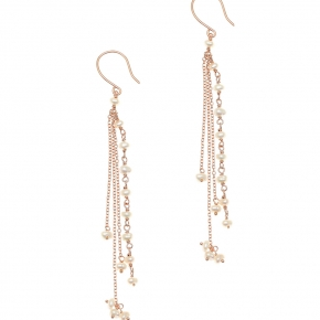 Earrings silver 925 pink gold plated - WANNA GLOW