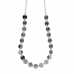 Necklace bronge rose gold and black rhodium plated - Simply Me