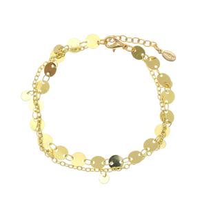 Bracelet metal yellow gold plated - Funky Metal