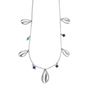Necklace silver 925 rhodium plated - Color Me