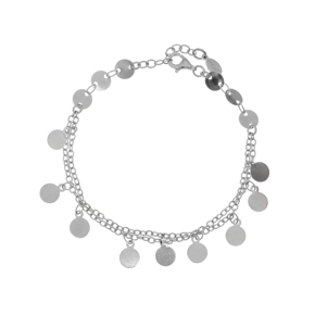 Bracelet metal rhodium plated - Funky Metal