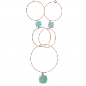 Necklace silver 925 pink gold plated & with amazonite - Color Me