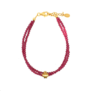 Bracelet silver 925 yellow gold plated - Color Me