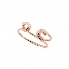 Ring silver 925 pink gold plated - Wish Luck