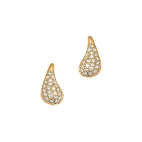 Earrings in silver 925 yellow gold plated with white zirconia - WANNA GLOW