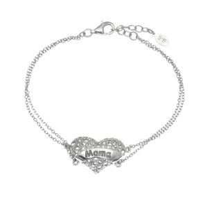 Bracelet silver 925 rhodium plated - Wish Luck