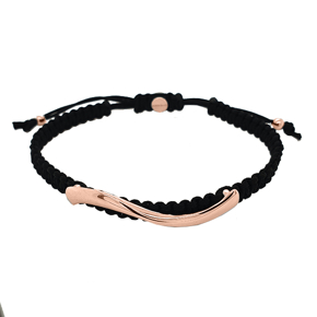Cord bracelet in silver 925 pink gold plated - My Man