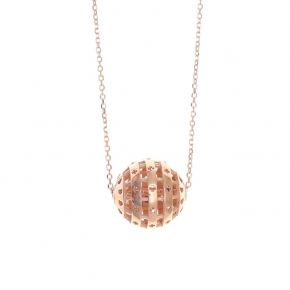 Necklace silver 925 rose gold plated - WANNA GLOW