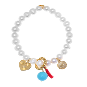 Bracelet silver 925 yellow gold plated with synthetic stones - Color Me