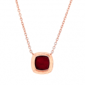 Necklace silver 925 rose gold plated with doublet gem stones - Color Me