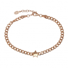Bracelet silver 925 pink gold plated - WANNA GLOW