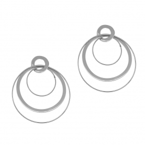 Earrings silver 925 rhodium plated - Funky Metal