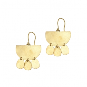 Earrings metal yellow gold plated - Funky Metal