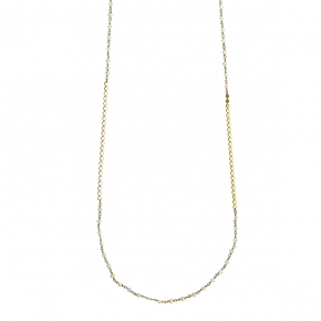 Necklase silver 925 yellow gold plated with fresh water pearls - Color Me