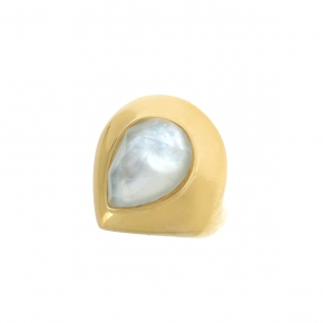 Ring silver 925 gold plated with doublet gem stones - Color Me