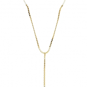 Necklace silver 925 yellow gold plated with fresh water pearl - Color Me