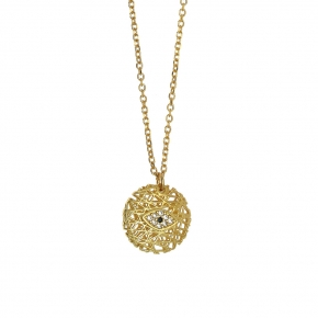 Necklace silver 925 yellow gold plated - WANNA GLOW