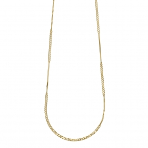 Necklace silver 925 yellow gold plated plated - Funky Metal