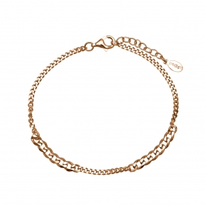 Bracelet silver 925 rose gold plated  plated - Funky Metal