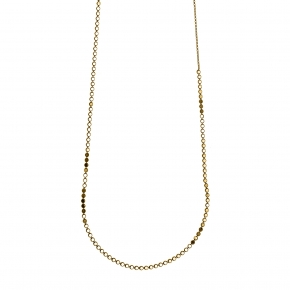 Necklace silver 925 yellow gold plated - Funky Metal