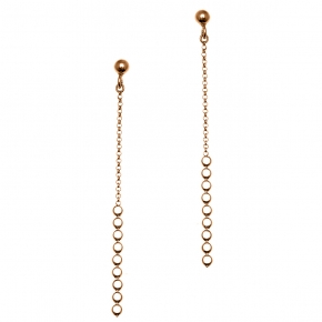 Earring silver 925 rose gold plated - Funky Metal