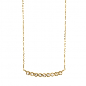 Necklace in silver 925 yellow gold plated with white zirconia - Simply Me