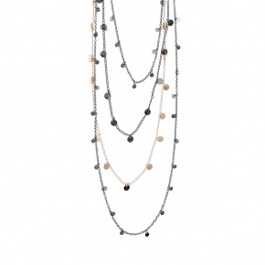 Necklase metal black rhodium plated with rose gold plated - Funky Metal