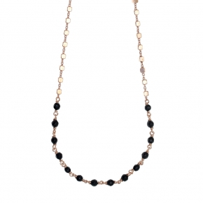 Necklase silver 925 rose plated with onyx - Color Me