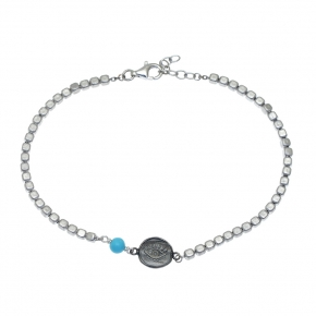 Bracelet silver 925 rhodium plated - My Man
