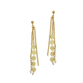 Earrings bronge rose gold and black rhodium - Funky Metal