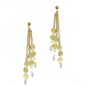 Earrings bronge rose gold and - Funky Metal