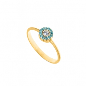 Ring gold 14 carats with zirconia - My Gold