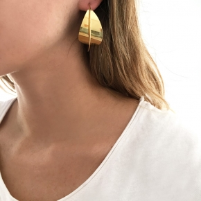 Earrings silver 925 yellow gold  plated - Funky Metal