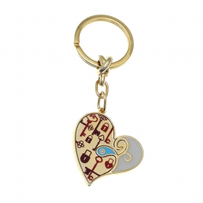 Key Chain - Lucky charm made of metal (pendant size 4cm) - Wish Luck