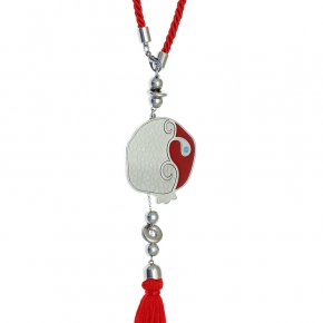 Lucky charm made of metal (pendant size 5.5cm) - Wish Luck