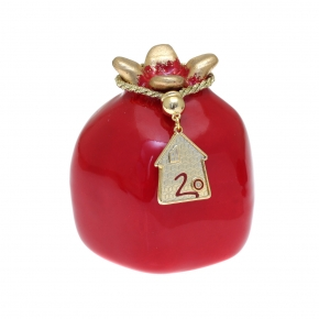 Lucky charm ceramic pomegranate with motif made of metal (pendant size 2.5 cm) - Wish Luck