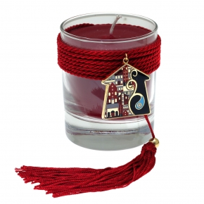 Lucky charm candle with motif made of metal (pendant size 4 cm) - Wish Luck