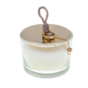 Lucky charm candle with motif made of metal (pendant size 2 cm) - Wish Luck