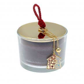 Lucky charm candle with motif made of metal (pendant size 2.5 cm) - Wish Luck