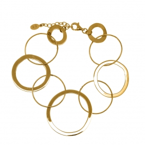 Bracelet silver 925 yellow gold plated - Funky Metal