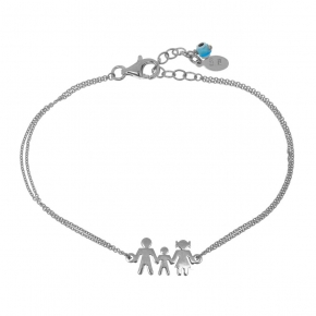 Bracelet silver 925 rhodium plated with evil eye - Wish Luck