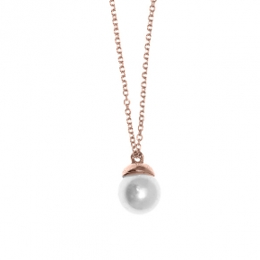 Necklace gold 14 carats with pearl - My Gold