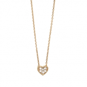 Necklace gold 14 carats zirconia - My Gold