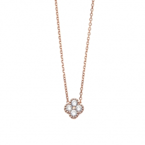 Necklace pink gold K14 with zirconia - My Gold