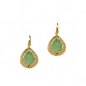 Earings silver 925 yellow gold plated with doublet gem stones - Color Me