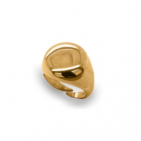Ring silver 925 gold plated - WANNA GLOW
